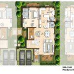 Ground floor plan 3544 Sft