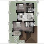 Hiranandani Villas type A first floor plan