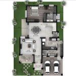 Hiranandani Villas type A ground floor plan