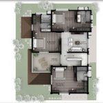 Hiranandani Villas type B first floor plan