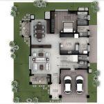 Hiranandani Villas type B ground floor plan