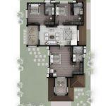 Hiranandani Villas type C first floor plan