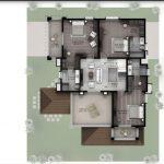 Hiranandani Villas type D first floor plan