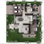 Hiranandani Villas type D ground floor plan